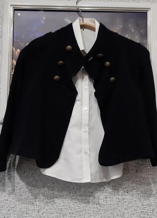 Пиджак жакет трикотажный  школьный для девочки 6-7 летет от