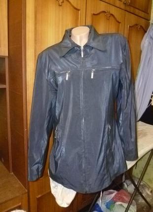 Фирменная непромокаемая куртка на синтепоне осень-весна,приталенная,винтаж,удлиненная