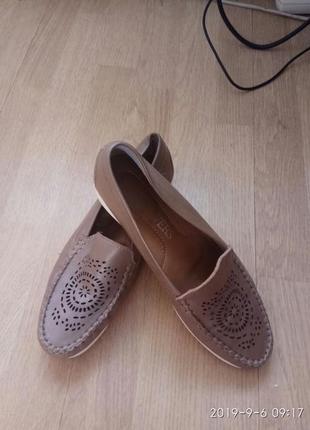 Кожаные туфли, мокасины