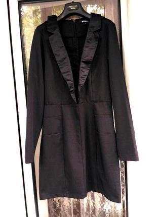 Missguided платье черное,размер м-л