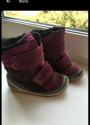 Зимние сапоги ботинки чобітки зимові еcco р.22 (14,5см)
