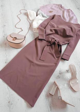 Платье с оригинальной спинкой ❤️кофейное