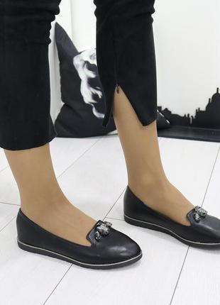 Новые женские черные туфли балетки