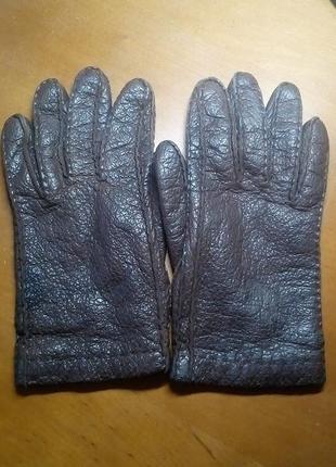 Перчатки кожаные кашемир