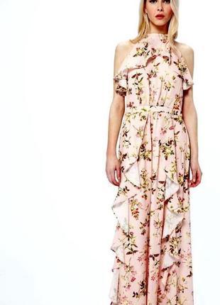 Красивое платье с воланами 46-48р