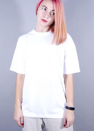 Женская футболка, базовая футболка, белая футболка, свободная футболка