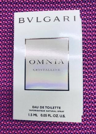 Bvlgari omnia crystalline пробник парфюмированной воды 1.5мл1 фото