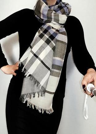 Шаль , палантин, широкий шарф в клетку laura ashley