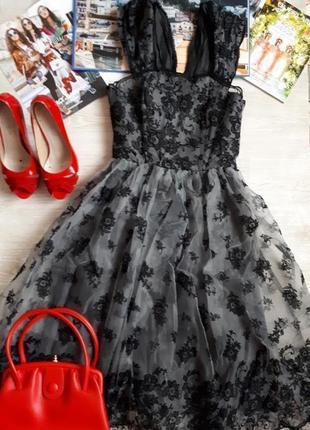 Вечернее платье h&m / платье пачка h&m /обувь в подарок