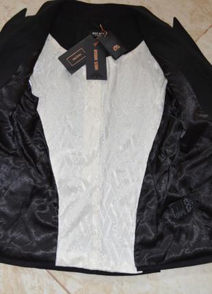 Брендовый черный пиджак жакет блейзер с карманами mos mosh турция вискоза8 фото