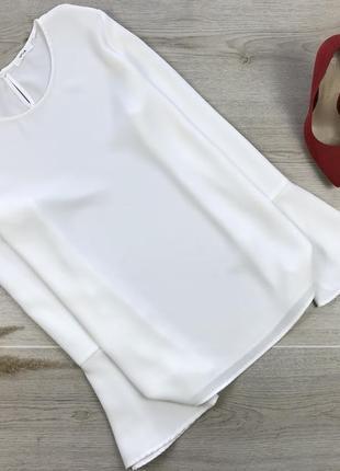 Крутая блуза/блузка молочного цвета opus