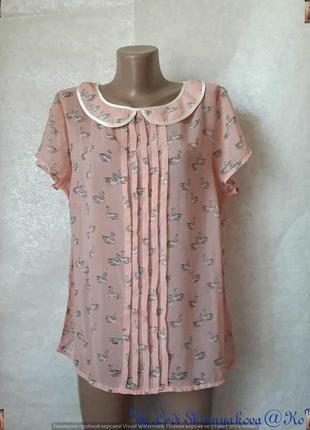 """Фирменная south pole миленькая блуза в розовом цвете с принтом """"уточки"""", размер ххл"""