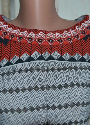 Платье туника геометрия принт  этно стиль s/m индия