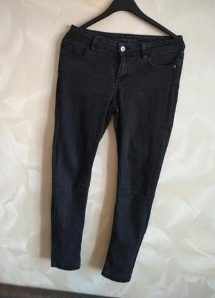 Черно-серые джинсы,скины,слим