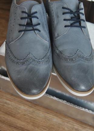 Кожаные оксфорды броги туфли minozzi milano / шкіряні туфлі