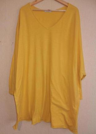 Трикотажная базовая  блуза италия оверсайз бойфренд