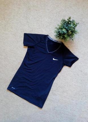 Женская компрессионная футболка nike pro combat dri- fit base layer for women