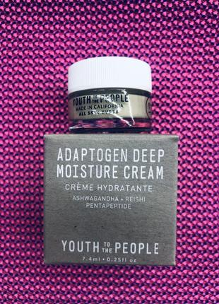 Youth to the people крем для лица adaptogen deep moisture cream with ashwagandha + reishi