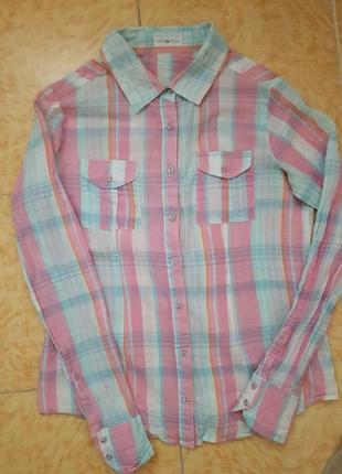 Стилтная  женская рубашка клетка