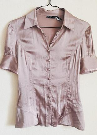 Vip бренд guess рубашка блузка шелковая шелк натуральный в бельевом стиле