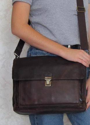 Классная мужская сумка bosboom, амстердам, натуральная кожа.