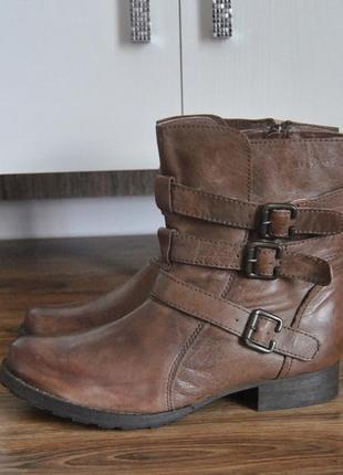 Кожаные сапоги сапожки ботинки finish the look / шкіряні чоботи