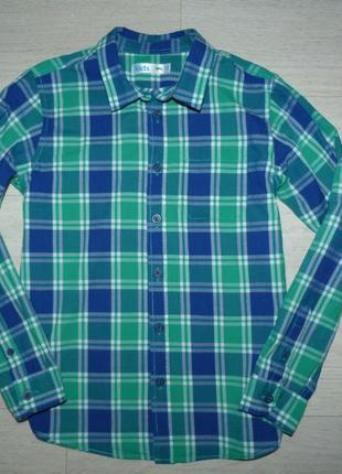 Яркая рубашка в клетку m&co 8-9 лет