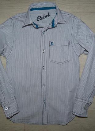 Рубашка в мелкую полоску rebel 7-8 лет