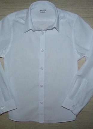 Белая рубашка m&s 8-9 лет