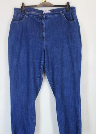 Синие стрейчевые джинсы большого размера 56-58 (uk22).