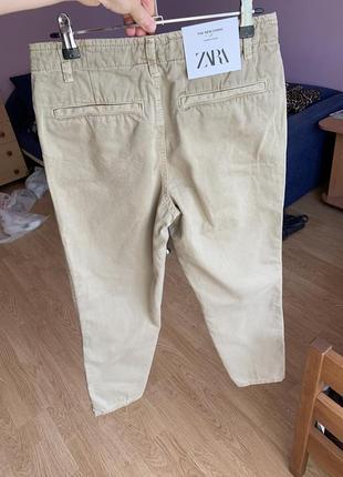 Новые бежевые джинсы zara3 фото