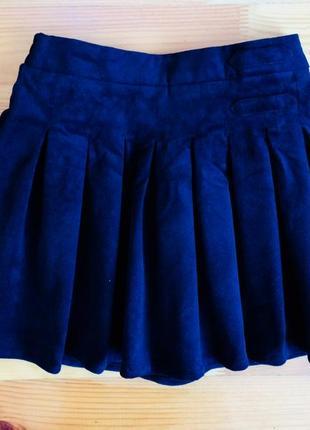 Красивая вельветовая юбка на 4-5 лет
