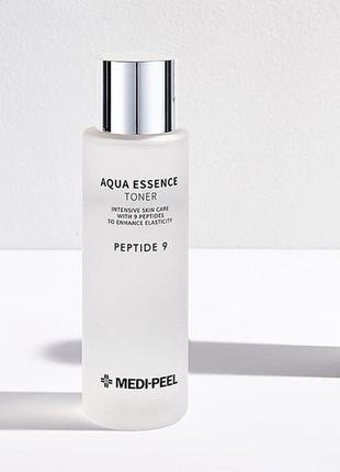 Medi-peel aqua essence toner  увлажняющий тонер-эссенция с пептидами с гиалуроновой к