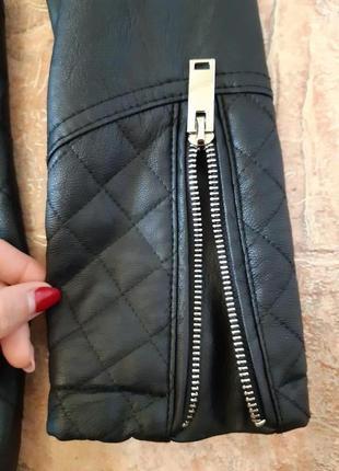 Удлиненная куртка косуха, плащ тренч от flamant rose4 фото