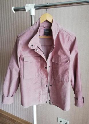 Пиджак куртка жакет рубашка вельветовая бахрома накладные  карманы4 фото