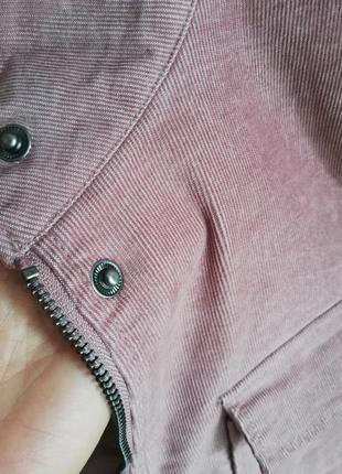 Пиджак куртка жакет рубашка вельветовая бахрома накладные  карманы8 фото