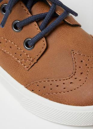 Туфли лоферы h&m броги рыжие3 фото