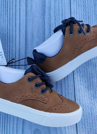 Туфли лоферы h&m броги рыжие4 фото