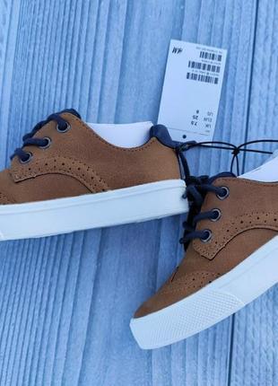 Туфли лоферы h&m броги рыжие5 фото