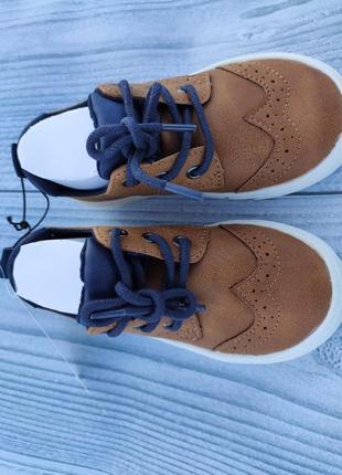 Туфли лоферы h&m броги рыжие6 фото