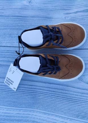 Туфли лоферы h&m броги рыжие7 фото
