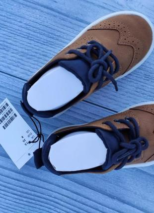 Туфли лоферы h&m броги рыжие8 фото