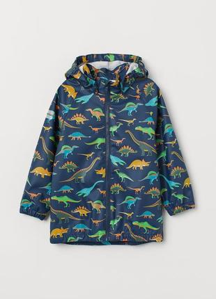 Дождевик ветровка куртка h&m динозавры