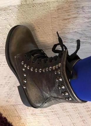 Новые натуральные фирменные ботинки 36р.6 фото