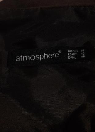 Теплая фланелевая юбка в коричнево-бежевых тонах4 фото