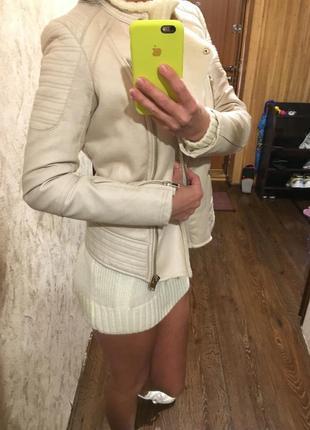 Крутая курточка косуха дубленка bershka на меху