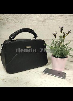 Женская офисная сумка небольшого размера f-811 черная