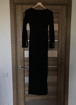 Теплое платье в рубчик