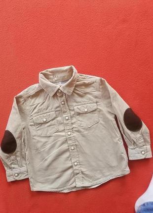 Брендовая рубашка мальчику zara 86 в прекрасном состоянии