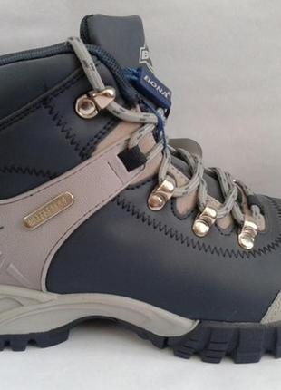 Ботинки подростковые зимние спортивные кожаные на меху restime
